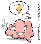 cartoon brain and idea in a... | Shutterstock .eps vector #1052611235