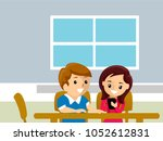 illustration of a couple... | Shutterstock .eps vector #1052612831