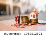 miniature people husband and... | Shutterstock . vector #1052612921