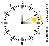 time change in europe in march... | Shutterstock .eps vector #1052616545
