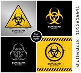 set of biohazard symbols... | Shutterstock .eps vector #1052616641