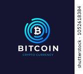 bitcoin logo concept.... | Shutterstock .eps vector #1052618384