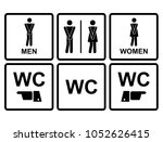 wc male and female  icon... | Shutterstock .eps vector #1052626415