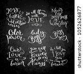 collection of hand written... | Shutterstock .eps vector #1052626877