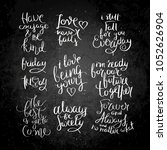 collection of hand written... | Shutterstock .eps vector #1052626904