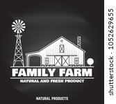 family farm badges or labels on ... | Shutterstock .eps vector #1052629655