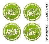set of allergen free badges.... | Shutterstock .eps vector #1052634755