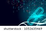 blockchain vector. blockchain... | Shutterstock .eps vector #1052635469