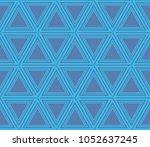 decorative seamless geometric... | Shutterstock .eps vector #1052637245