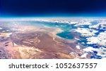 high altitude aerial landscape... | Shutterstock . vector #1052637557
