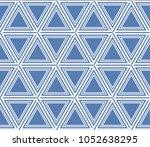 decorative seamless geometric... | Shutterstock .eps vector #1052638295