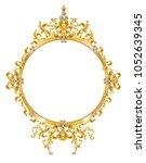 golden mirror frame with... | Shutterstock .eps vector #1052639345