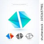 vector abstract logo elements.... | Shutterstock .eps vector #1052657981
