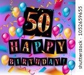 50 years anniversary vector... | Shutterstock .eps vector #1052659655