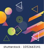 abstract colorful playful... | Shutterstock .eps vector #1052663141
