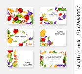 vegetables. design collection... | Shutterstock .eps vector #1052663447