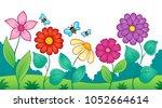 flower topic image 9   eps10... | Shutterstock .eps vector #1052664614