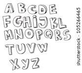 english alphabet  hand drawn  | Shutterstock .eps vector #105266465