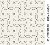 seamless linear pattern with... | Shutterstock .eps vector #1052666504