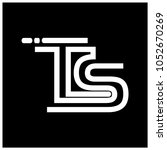 letter t and s on black... | Shutterstock .eps vector #1052670269