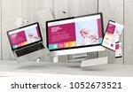 3d rendering of office stuff... | Shutterstock . vector #1052673521