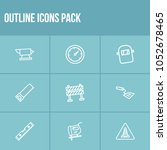 industry icon set and spatula...
