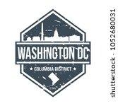 Washington Dc Usa Travel Stamp...