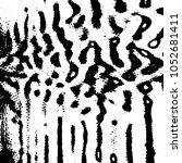 grunge halftone black and white ... | Shutterstock .eps vector #1052681411