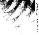 grunge halftone black and white ... | Shutterstock .eps vector #1052681465