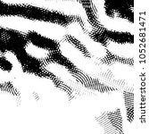 grunge halftone black and white ... | Shutterstock .eps vector #1052681471