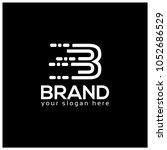 letter b on black background. ... | Shutterstock .eps vector #1052686529