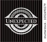 unexpected silvery emblem or... | Shutterstock .eps vector #1052690279
