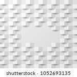square abstract  light texture  ... | Shutterstock .eps vector #1052693135