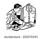 man ironing   retro clipart... | Shutterstock .eps vector #105270191