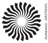 sunburst  radial abstract... | Shutterstock .eps vector #1052703191