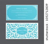 wedding invitation or greeting... | Shutterstock .eps vector #1052712839