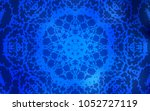 dark blue vector doodle bright... | Shutterstock .eps vector #1052727119