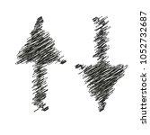 zigzag arrow icon. up down icon | Shutterstock .eps vector #1052732687