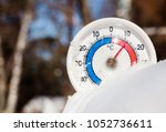 thermometer with celsius scale... | Shutterstock . vector #1052736611