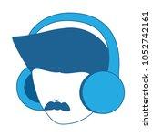 avatar man head icon | Shutterstock .eps vector #1052742161