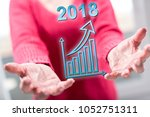 business growth in 2018 concept ... | Shutterstock . vector #1052751311
