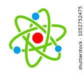 molecule atom symbol  | Shutterstock .eps vector #1052752475
