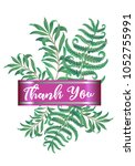 botanic card with fern frond... | Shutterstock .eps vector #1052755991