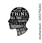 what we think  we become... | Shutterstock .eps vector #1052756261