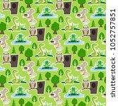 snake character wildlife nature ... | Shutterstock .eps vector #1052757851