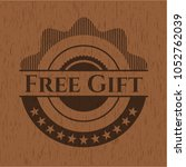 free gift wooden signboards   Shutterstock .eps vector #1052762039