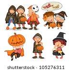 illustration of halloween...   Shutterstock . vector #105276311