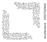 silver textured vintage corners ...   Shutterstock . vector #1052763464