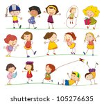 illustration of collection of... | Shutterstock . vector #105276635