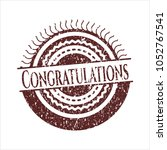 red congratulations distrered ... | Shutterstock .eps vector #1052767541